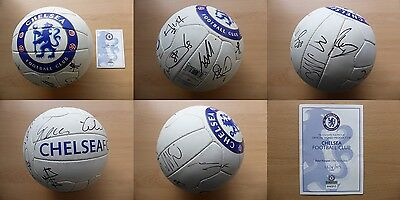 2009-10 Chelsea Double Winners Squad Signed Football with Official COA (10371)