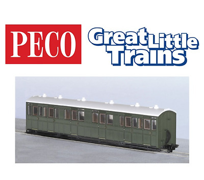 Peco GR-401U Composite Coach Green Unlettered OO-9 Gauge