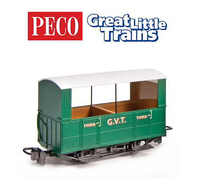 Peco GR-520 Glyn Valley Tramway Open Side Coach OO-9 Gauge