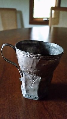 ANTIQUE SOUTH AMERICAN SILVER Kero cup
