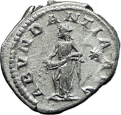 ELAGABALUS  220AD Rare Genuine Authentic Silver Roman Coin Abundantia i60489