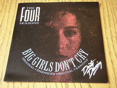 """The Four Seasons - Big Girls Don't Cry  7"""" Vinyl Ps"""