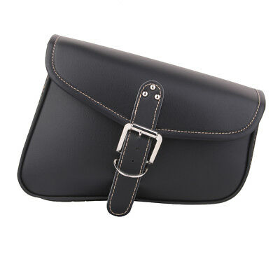 Leather Motorbike Motorcycle Tool Roll Saddle Bag Luggage Pouch Bag Universal