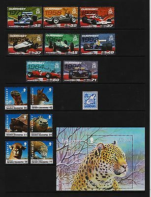 U.K. Guernsey Recent issues Darwin's Discoveries, Race Cars, Endangered Species