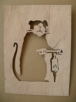 Banksy Road Drill Rat Wooden Stencil rats