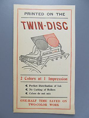 Advertising Leaflet for Twin-Disc Platen Press Attachment, ATF