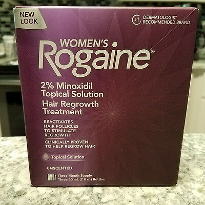 Women's Rogaine Topical Solution Hair Regrowth Treatment Three (3) Month Supply