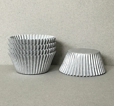 Silver Cupcake Liners, Silver Cupcake Wrappers, Silver Baking Cups