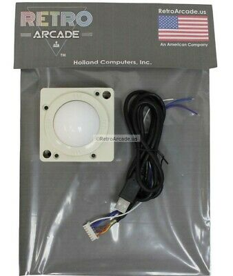 Arcade 2 inch game Trackball for PC or MAC - USB and PS2 Connectors