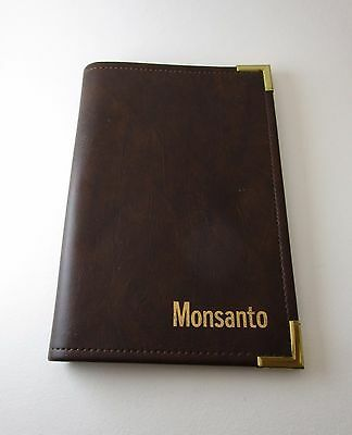 Monsanto Branded Vintage Leather Folder Folio Organizer