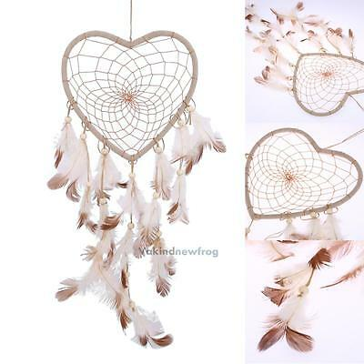 New Dream Catcher Heart Net with Feathers Home Wall Hanging Decoration Decor