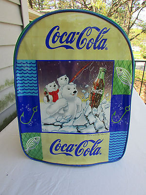 Colorful Coca-Cola Backpack Polar Bear Design Adjustable Straps New With Tags