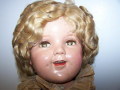 """Vintage Ideal Shirley Temple Original Wig For  25""""  Doll 1930s"""