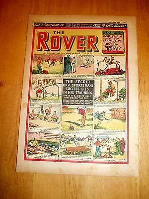 ROVER COMIC 14/6/1958 SPORTS TRAINING COVER  FOOTBALL GOLF RUGBY etc