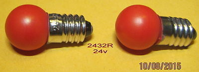 American Flyer Bulb, # 2432R (24v) for 720, 720A Switch Controllers (2)