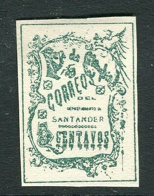 COLOMBIA SANTANDER 1905 early classic Imperf issue 5c. Mint hinged