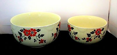 Vintage Hall's China Red Poppy Radiance Set Of 2  Bowls- Free Shipping