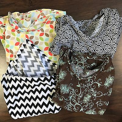 Nursing Covers Lot of 4 Covers Leach Co Bebe Au Lait Essie Designs Udder Covers