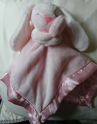 New Carter's Snuggle Buddy Pink Bunny Rabbit Security Blanket Soft Cute NWOT