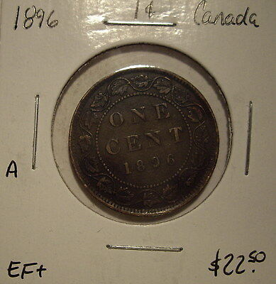 A Canada Victoria 1896 Large Cent - EF+