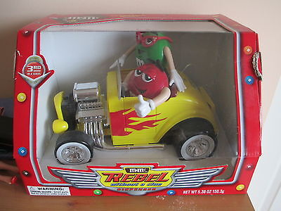 M & M Candy Dispenser, Rebel Without A Clue, Hotrod Car, Original Box