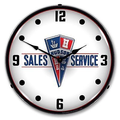Hudson Sales and Service Lighted Wall Clock