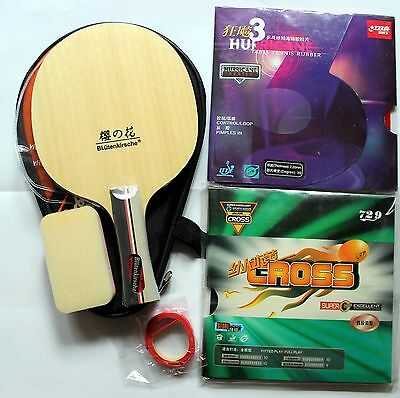 Custom-made Hurricane3 Carbon Table Tennis Bat, with Case, new