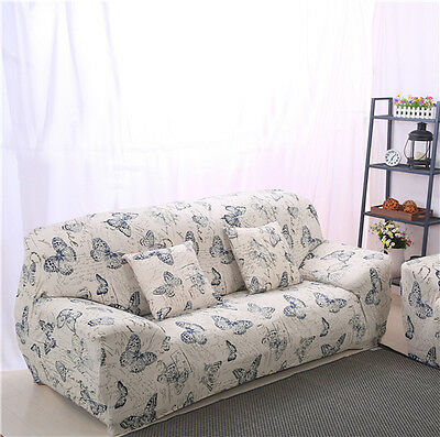 Butterfly LAUBT Stretch Fitted Sofa Cover Pet Protector for 1 2 3 4 Couch LAU