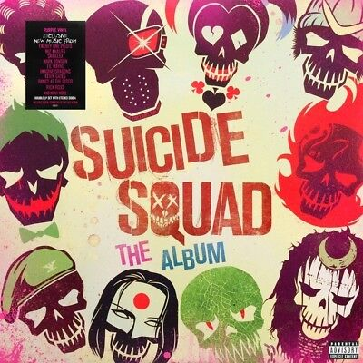 Suicide Squad The Album soundtrack ltd PURPLE vinyl 2 LP NEW/SEALED