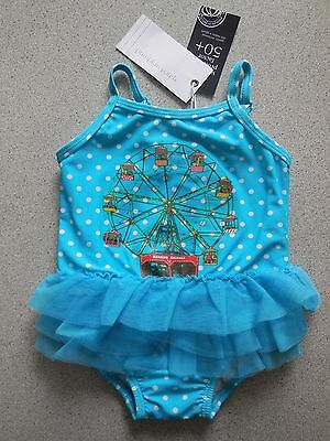 'pumpkin Patch' Baby Girl One Pce Bathers Swimsuit Size 00 Fits 3-6M *new