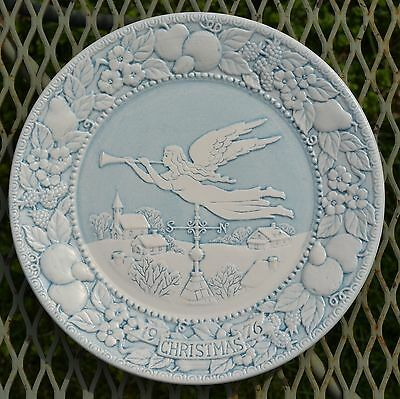 Metlox Pottery Vernon Ware Plate Hark the Herald Angels Sing - Christmas 1976