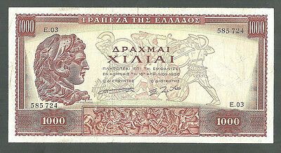 GRIECHENLAND GREECE 1,000 1000 DRACHMAI 1956 Rare GREAT CONDITION