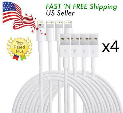 4X OEM Lightning USB Cable For Apple iPhone 6s Plus 6 5s 7 Data Sync Charger