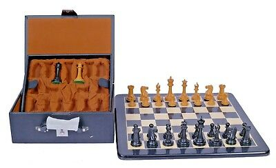 Emil Kemény 1892-93 Reproduction Antique Chessmen with Board & Presentation Box