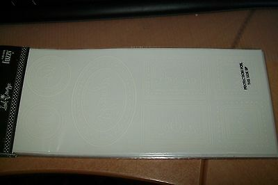 """1 Sheet Rub-Ons From Fuzzy White Letters """"shapes """" 23X10 Cm  New"""