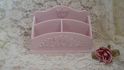 Letter Mail Holder Organizer Pink Roses Chic Shabby Distressed ~Pretty~