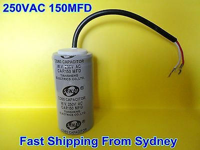 CD60 250VAC 150MFD (150uF) Air Conditioner Appliance Motor Capacitor With Wire