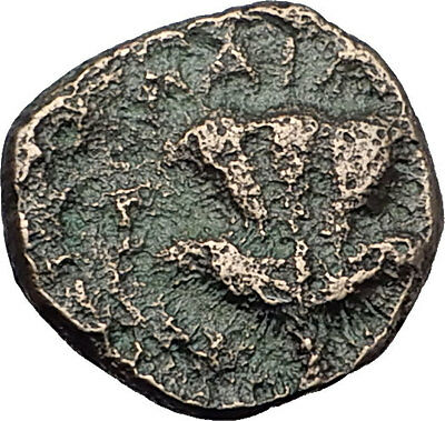 TRAGILOS in MACEDONIA 400BC Hermes Rose Authentic Ancient Greek Coin i60528