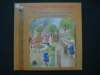 Art of Courtly Love Early Muisc Consort of London David Munrow EMI 3LP Box Set