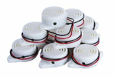 SEOH Electric Buzzer DC 3 - 24 V for Physics Circuits 10 Pack