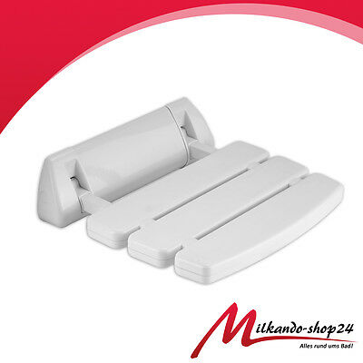Asiento DE Ducha plegable hasta 150 kg Ayuda la Pared blanco
