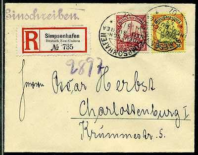 DNG Mi 9 + 11  Reko-Brief  Simpsonhafen  Berlin  1907