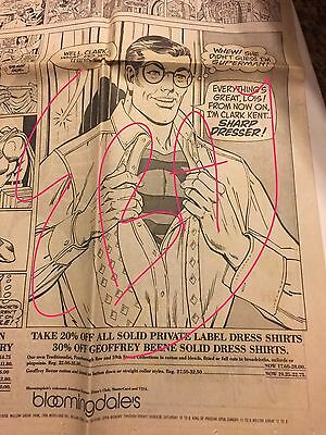 Vintage 1988 Superman Full Page Comic Strip Bloomingdale's store 50th Ultra RARE