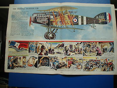 Eagle Cutaway Drawing 7/1/1955  Brisfit  Bristol Fighter Plane  F.2B