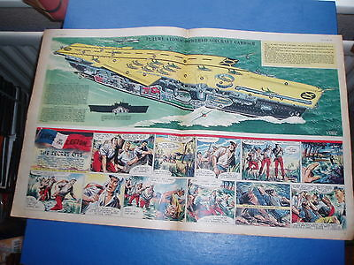 Eagle Cutaway Drawing 15/4/1954  Future Atomic Aircraft Carrier