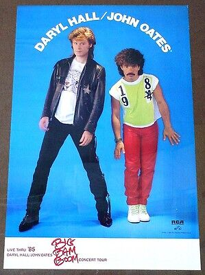 Hall & Oates 1985 poster Big Bam Boom tour flawless condition
