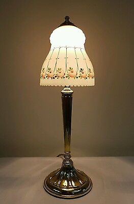Antique C1910 Edwardian Elegant Cast Brass Table Lamp. Fully Rewired