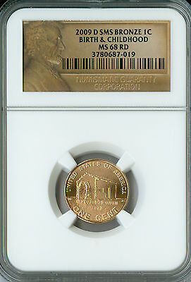 2009-D Lincoln Cent Birth & Childhood Ngc Ms68 Rd Sms Spotless .