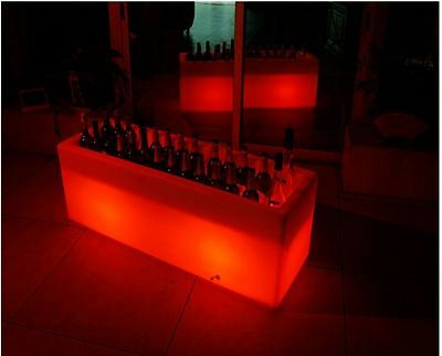 """47.2"""" large LED Ice Bucket Luminous multi-color changing beer wine drinks cooler"""