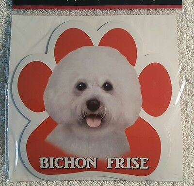 Bichon Frise Dog Breed Paw Print Magnet